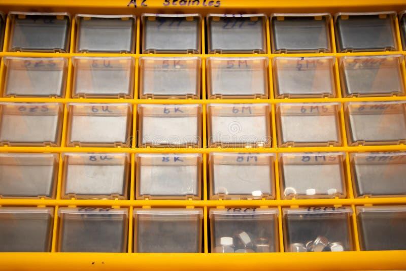 Wyposażenie szafka dla machanic z studia światłem fotografia stock