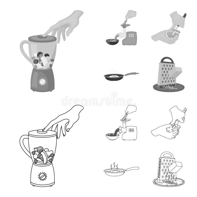Wyposażenie, urządzenia, urządzenie i inna sieci ikona w konturze, monochromu styl , kucharz, tutsi Kuchnia, ikony w secie ilustracja wektor
