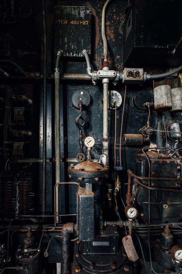 Wyposażenie - wykolejeniec Węglowa elektrownia - Zaniechanego Indiana wojska Amunicyjna zajezdnia - Indiana obrazy royalty free