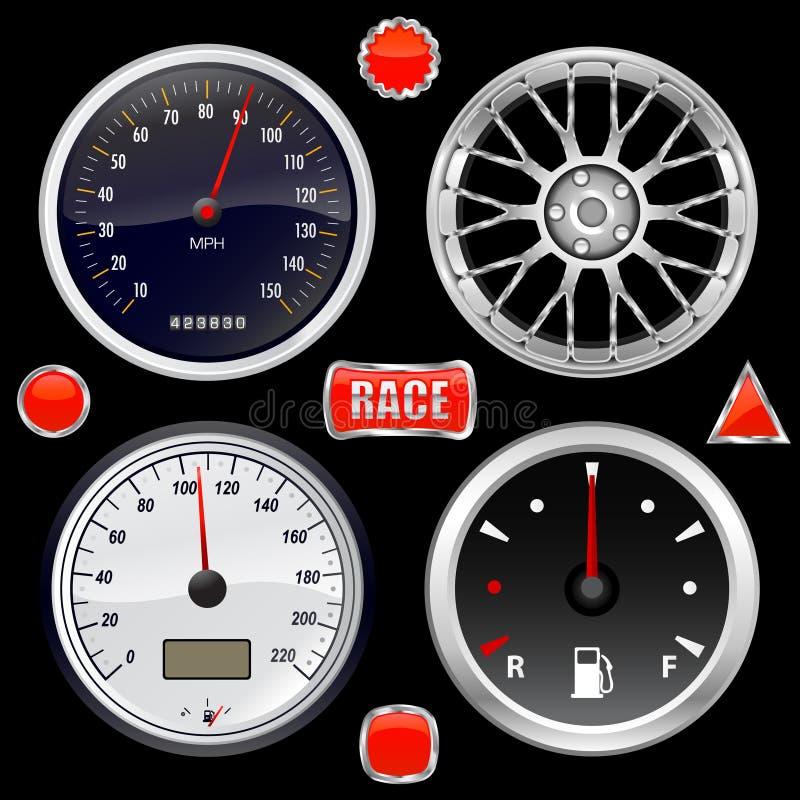 Download Wyposażenie Samochodowy Obyczajowy Wektor Ilustracja Wektor - Obraz: 8952822