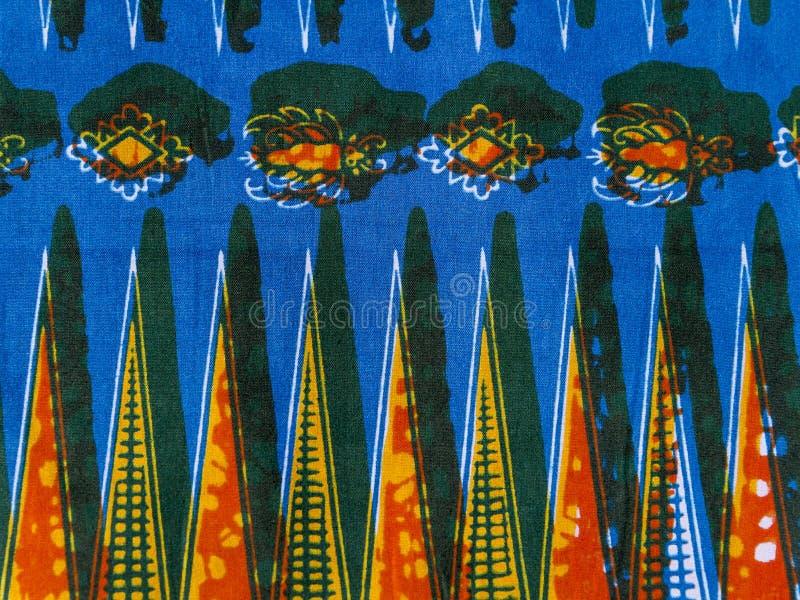 Wyprodukowana Afrykańska tkanina (bawełna) fotografia stock