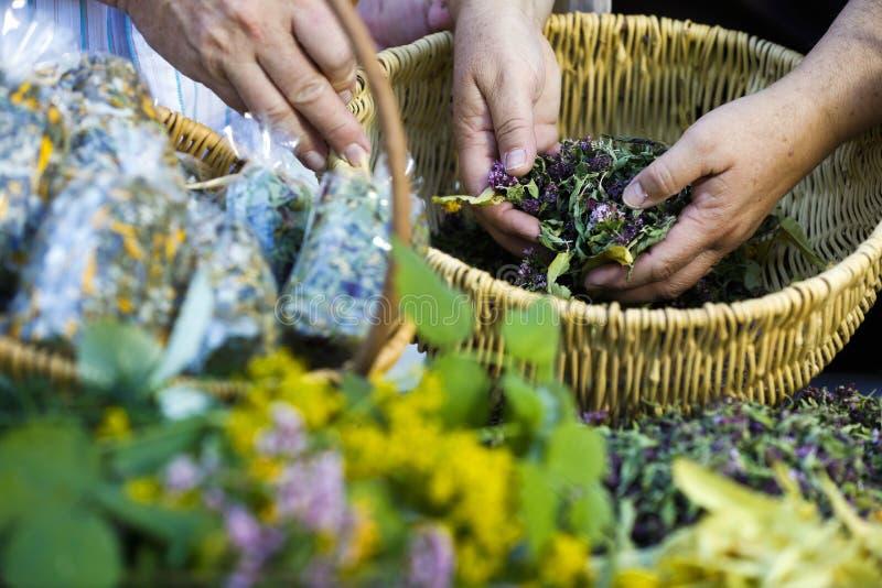 Wyprodukowany lokalnie susi ziele w koszu obraz royalty free