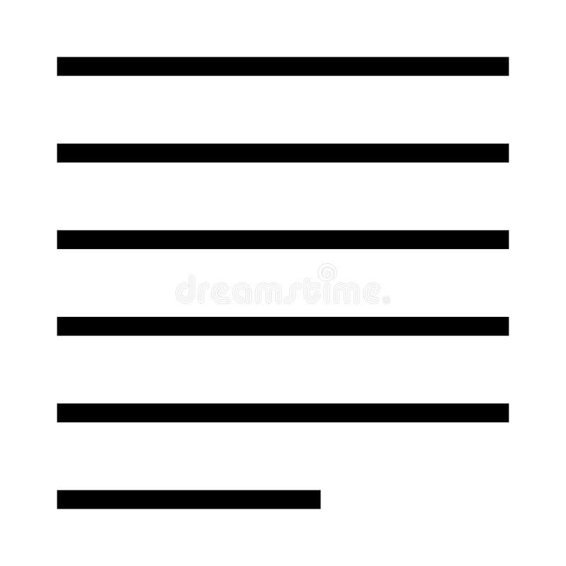 Wyrównanie wektoru linii ikona ilustracja wektor