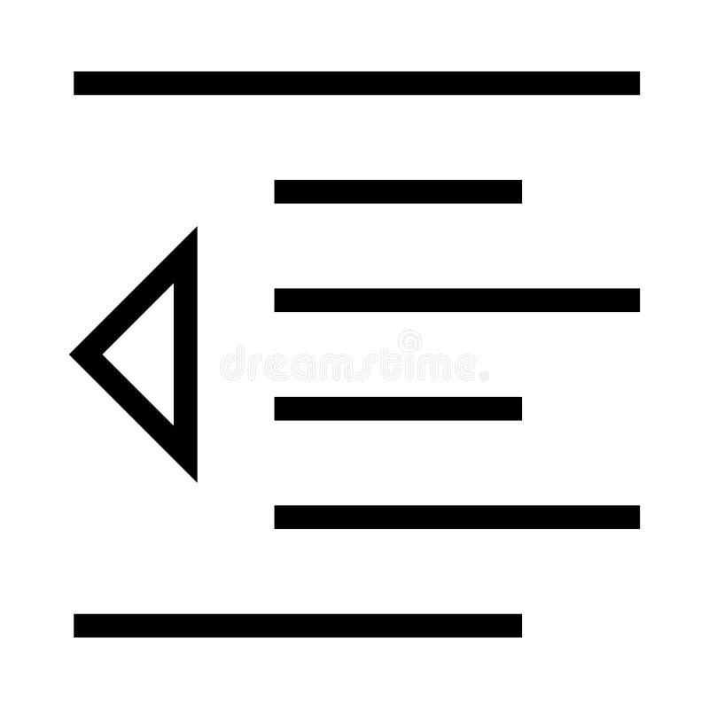 Wyrównanie wektoru linii ikona ilustracji