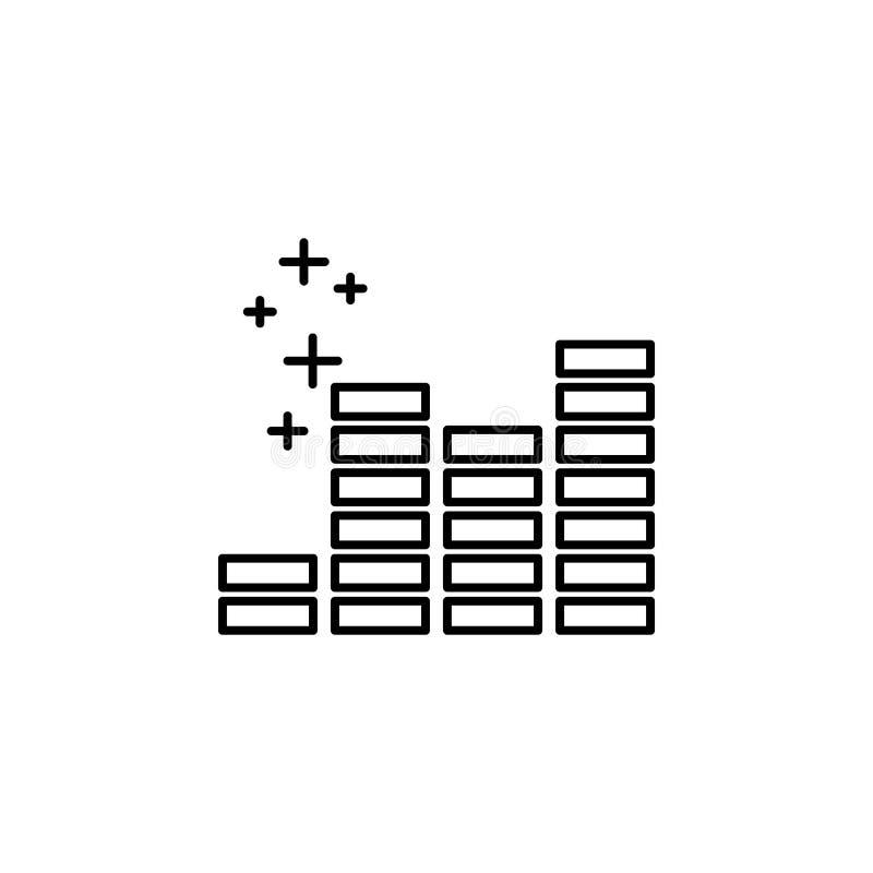 Wyrównywacz ikona Element nowego roku konturu oarty ikona Cienka kreskowa ikona dla strona internetowa projekta i rozwoju, app ro ilustracji