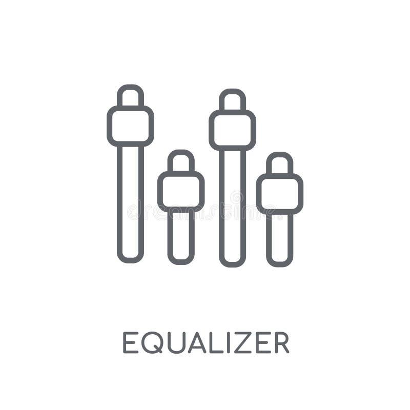 Wyrównywacz liniowa ikona Nowożytny konturu wyrównywacza logo pojęcie dalej ilustracji