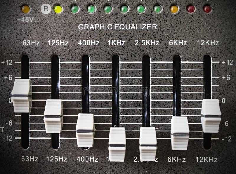 Wyrównywacza przyrząd dla nagrywać i reprodukci dźwięk obrazy stock