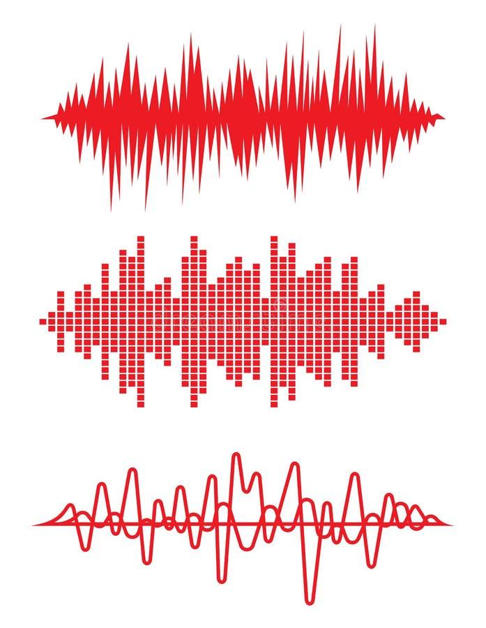 Wyrównywacza pulsu kierowych rytmów kardiogram ilustracja wektor