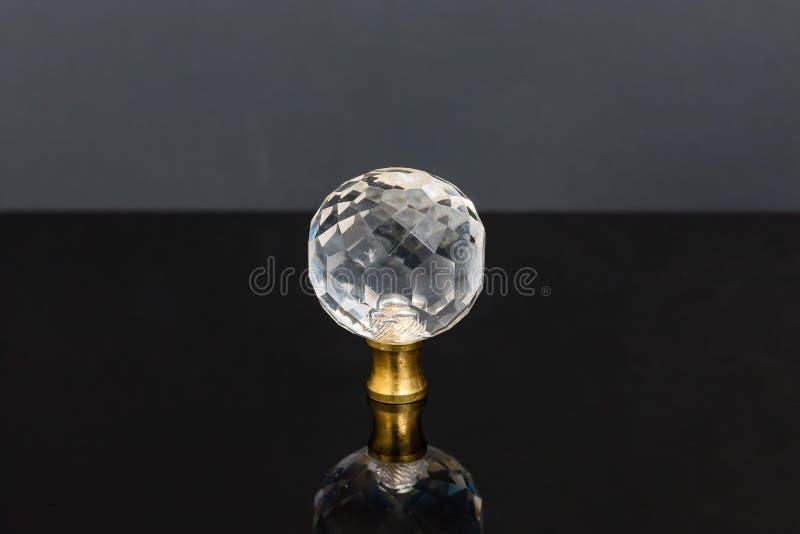 Wyraźna szklana sfera która był najprawdopodobniejsza kreślarz gałeczki previo fotografia royalty free