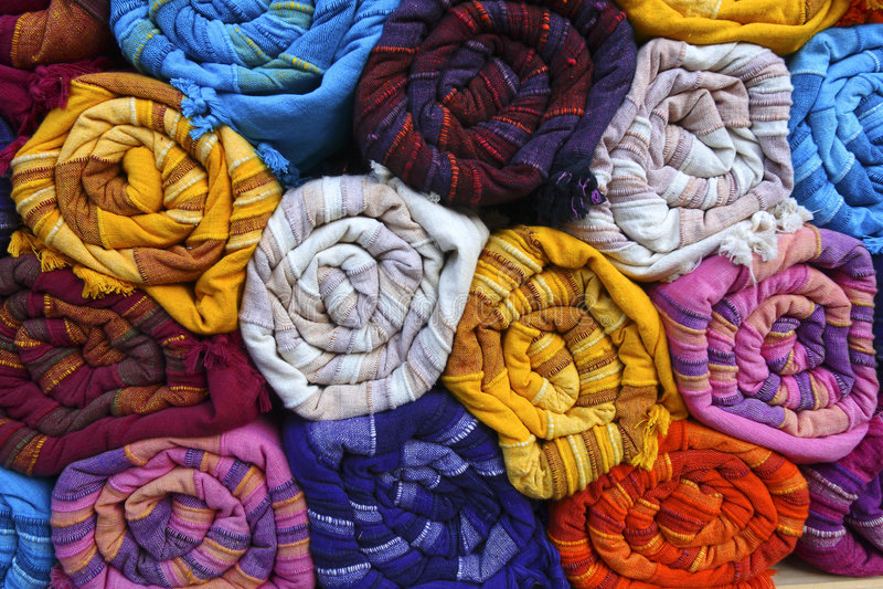 wyroby włókiennicze indyjskie obraz stock