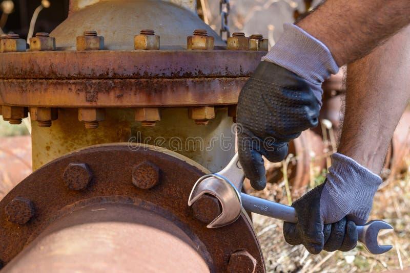 Wyrwanie dociska rygiel fotografia stock