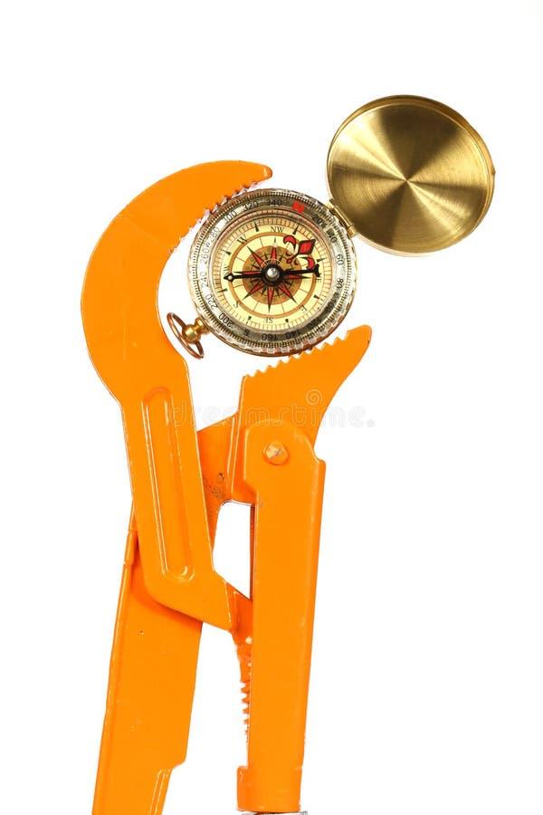 Wyrwanie i kompas zdjęcia stock