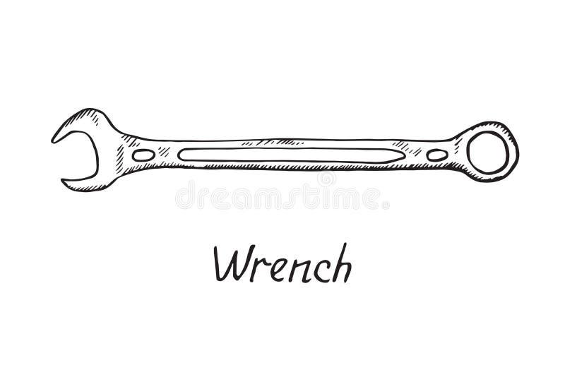 Wyrwanie, ręka rysujący doodle nakreślenie royalty ilustracja