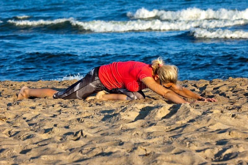 wyrzucać na brzeg kanarka ćwiczeń Fuerteventura wyspę Spain zdjęcie royalty free