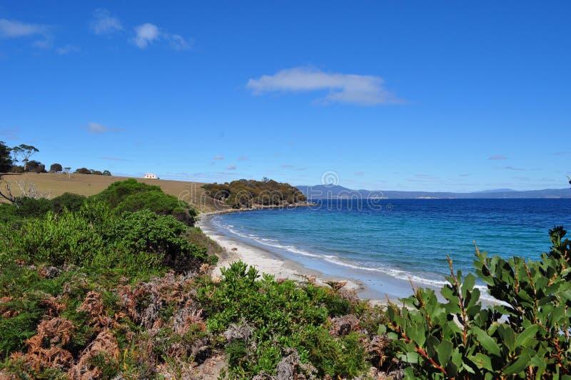 Wyrzucać na brzeg w Maria wyspy parku narodowym, Tasmania, Australia zdjęcia royalty free