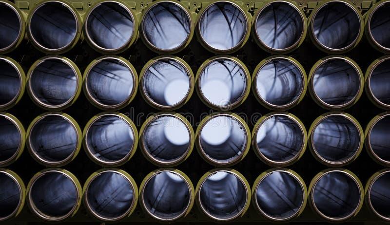 Wyrzutnia rakietowa puści dyszle obrazy stock