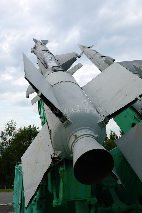 Wyrzutnia Robić przeciwlotniczy pocisk C-125 obrazy stock