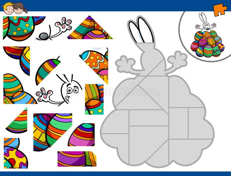 Wyrzynarki łamigłówka z Easter królikiem ilustracja wektor