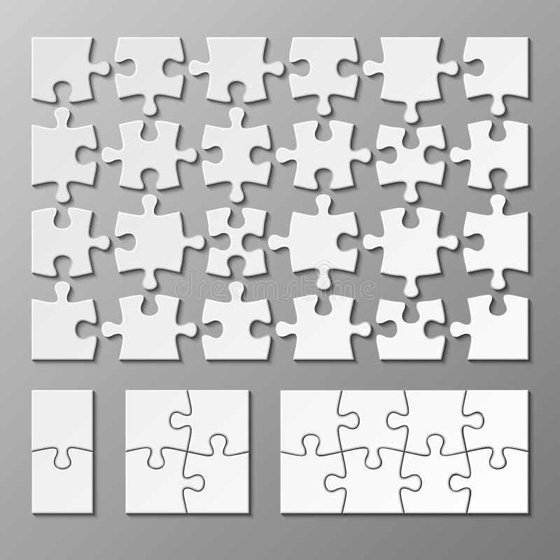 Wyrzynarki łamigłówki kawałka wektorowy szablon odizolowywający ilustracja wektor