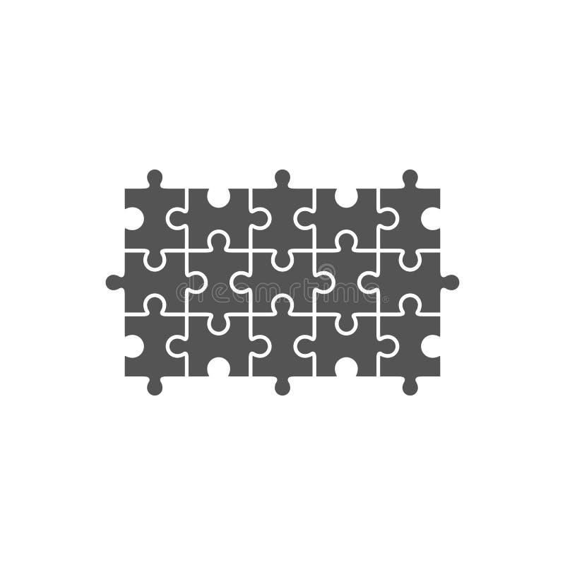 Wyrzynarki łamigłówki pustego miejsca szablon royalty ilustracja