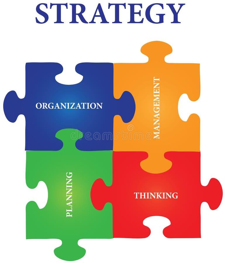 wyrzynarki łamigłówki strategia ilustracja wektor
