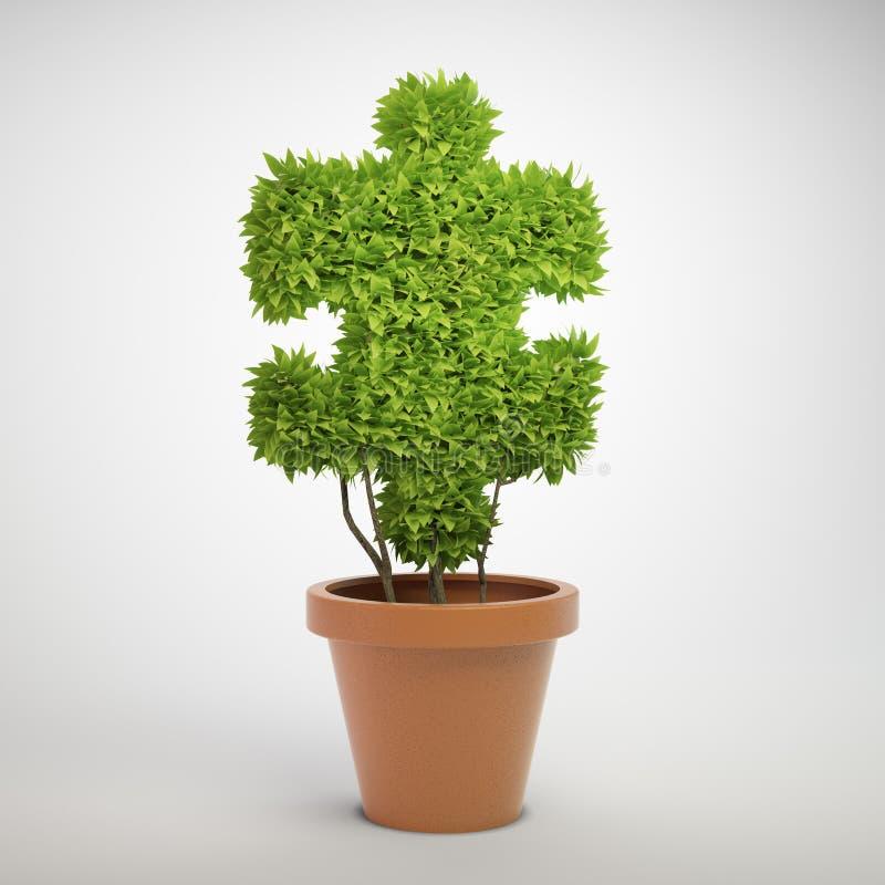 wyrzynarki rośliny łamigłówka ilustracja wektor