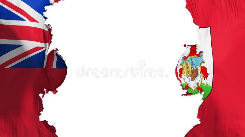 Wysadzająca Bermuda flaga ilustracji