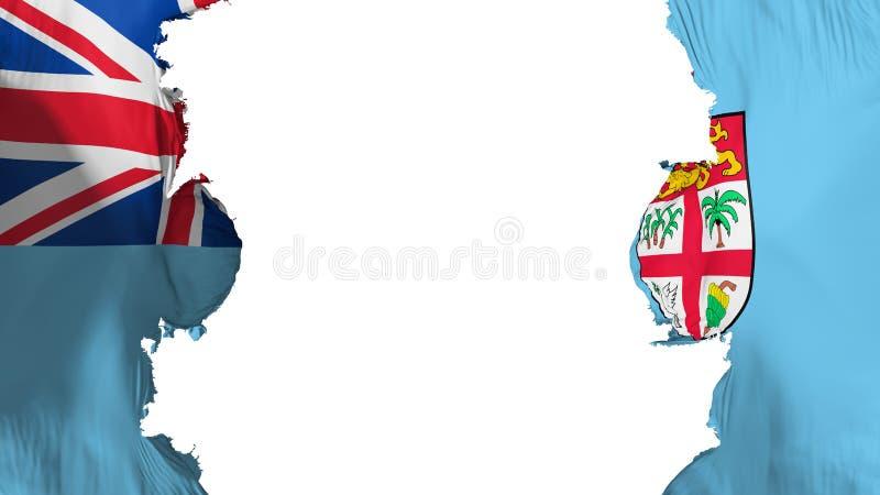 Wysadzająca Fiji flaga royalty ilustracja