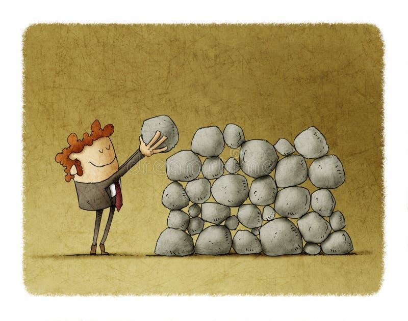 Wysiłek i sukces w biznesie ilustracja wektor