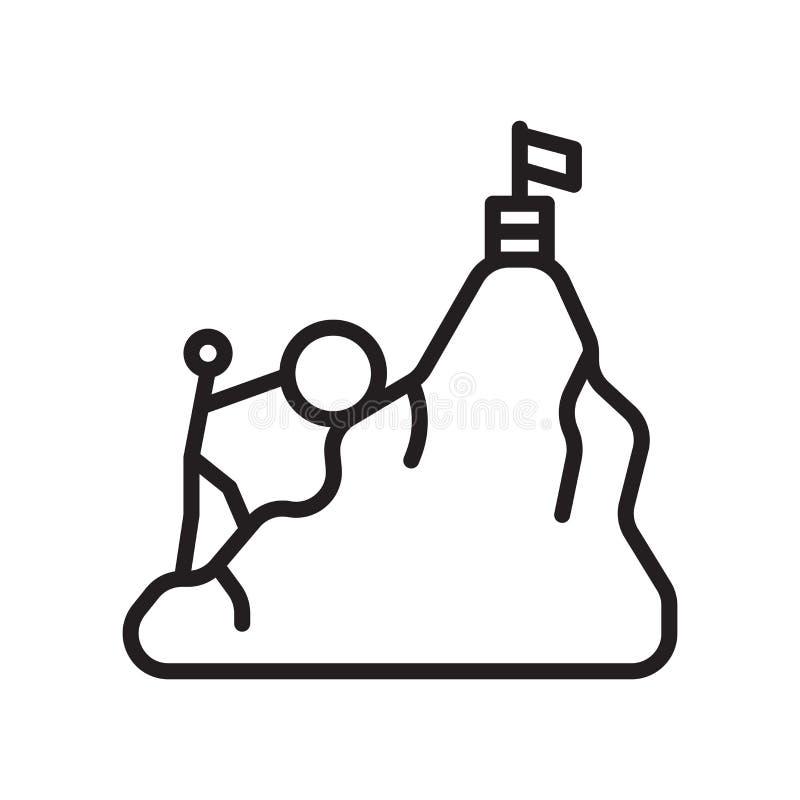 Wysiłek ikony wektoru znak i symbol odizolowywający na białym tle ilustracja wektor