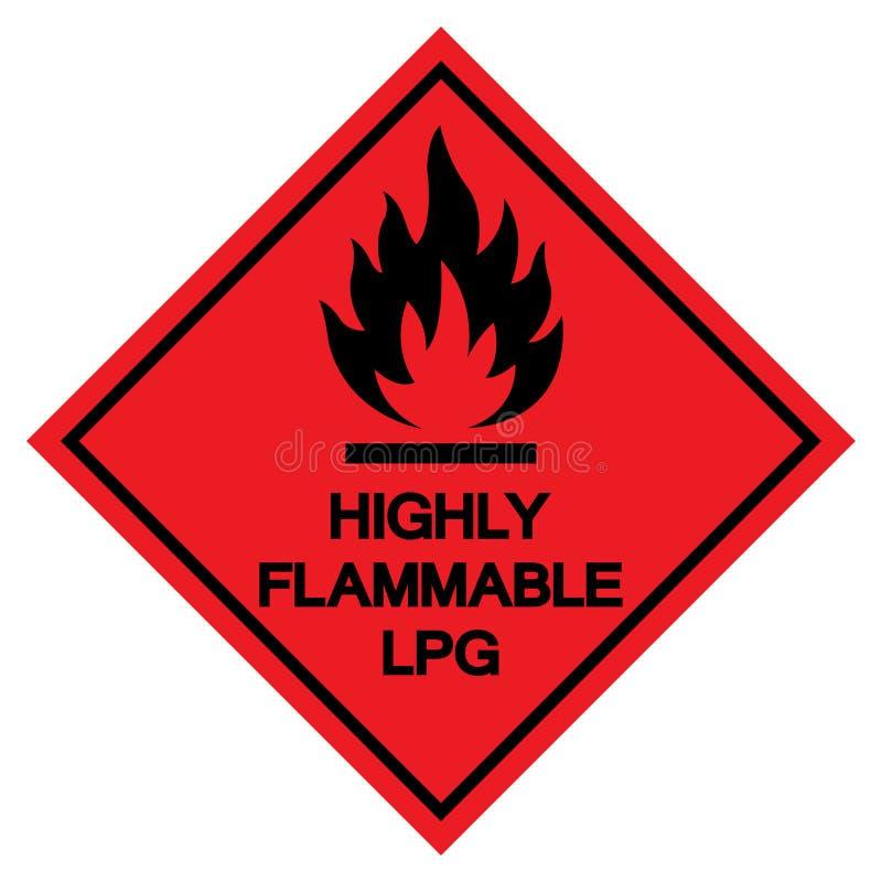 Wysoce Flammable LPG symbolu znak, Wektorowa ilustracja, Odizolowywa Na Białej tło etykietce EPS10 ilustracja wektor