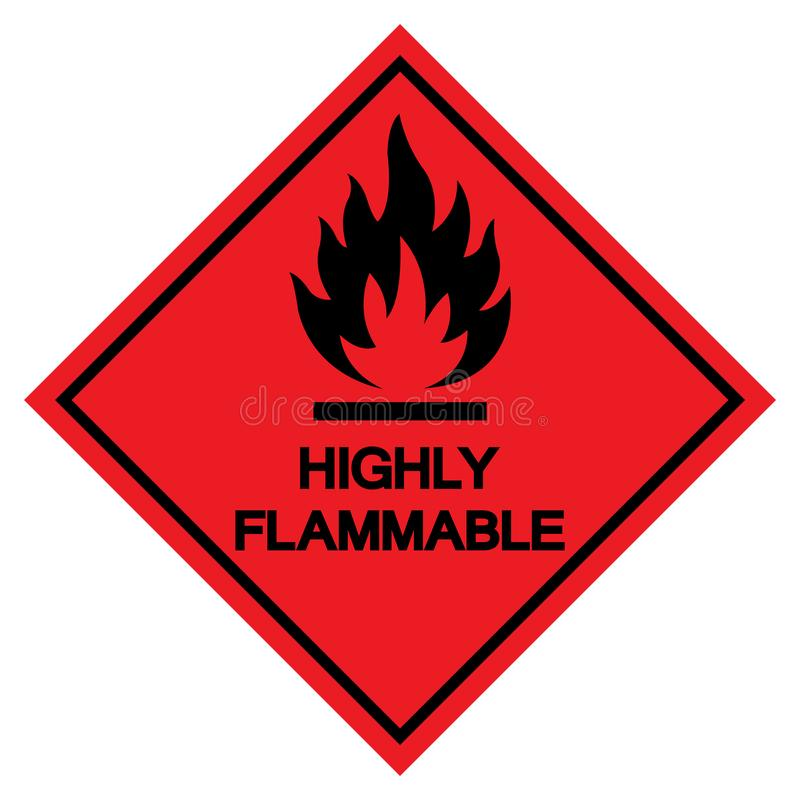 Wysoce Flammable symbolu znak, Wektorowa ilustracja, Odizolowywa Na Białej tło etykietce EPS10 ilustracja wektor
