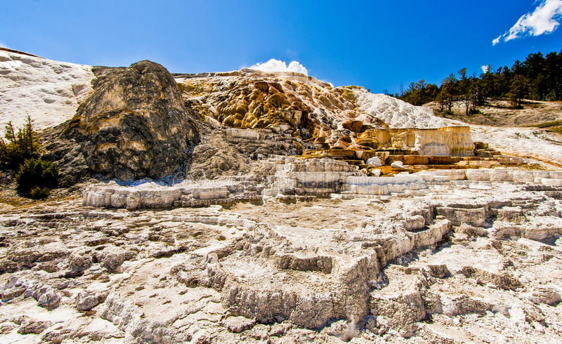 Wysoce Geotermiczny krajobraz Yellowstone park narodowy zdjęcia royalty free