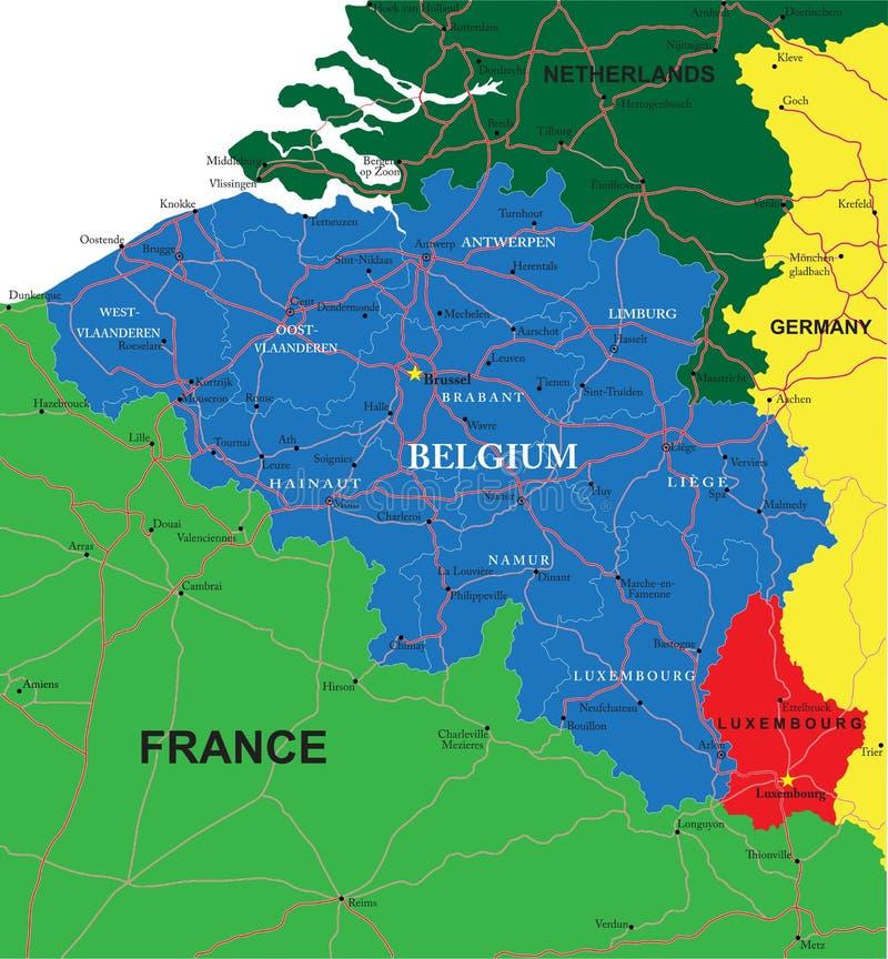 Belgia mapa ilustracji