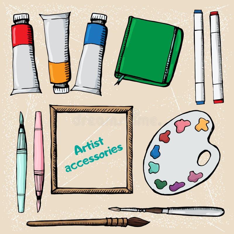 Wysoce szczegółowe artysta ikony ustawiają 15 ilustracji