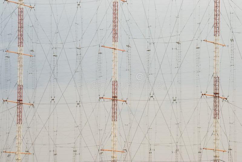 Wysocy antena słupy obrazy stock