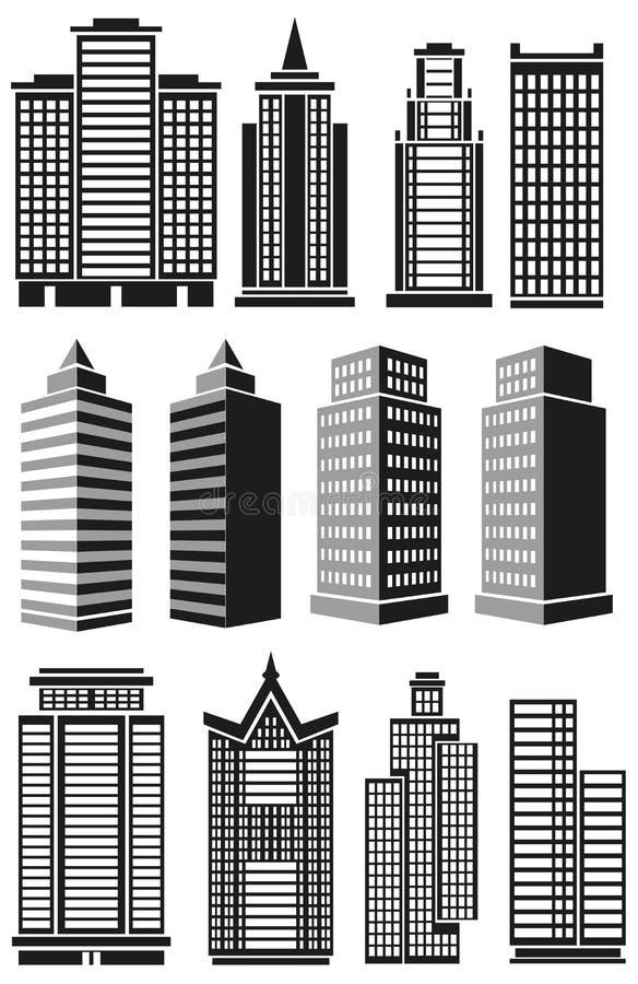 Wysocy budynki ilustracji