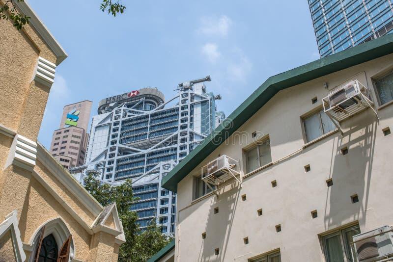 Wysocy drapacze chmur w Hong Kong zdjęcie royalty free