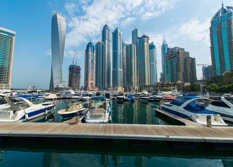 Wysocy Dubaj Marina drapacze chmur obraz royalty free