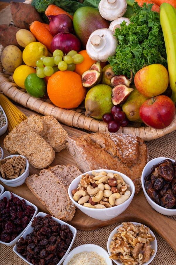 Wysocy włókien Foods obrazy royalty free