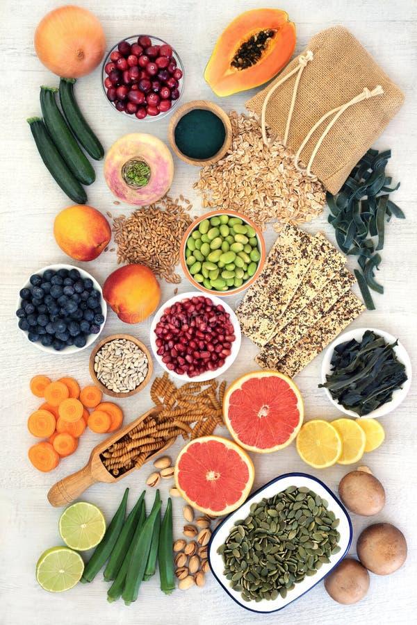 Wysocy w??kna jedzenia zdrowie na dobre obrazy stock