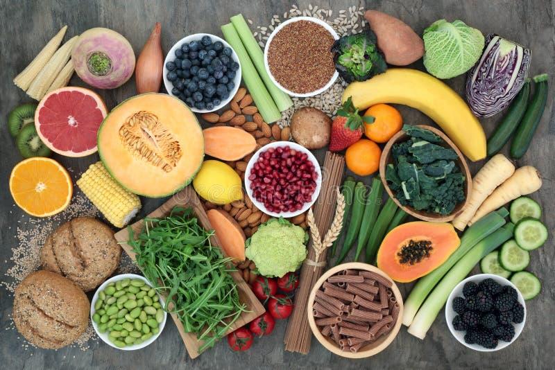 Wysocy w??kna jedzenia zdrowie na dobre fotografia stock