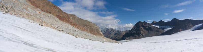 Wysoka Alps szczytu panorama obraz royalty free