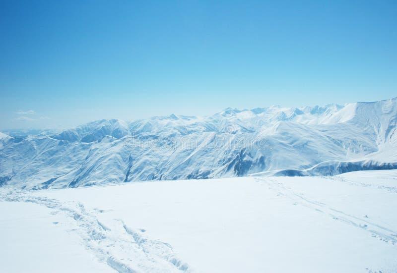 wysoka góra śnieg fotografia stock