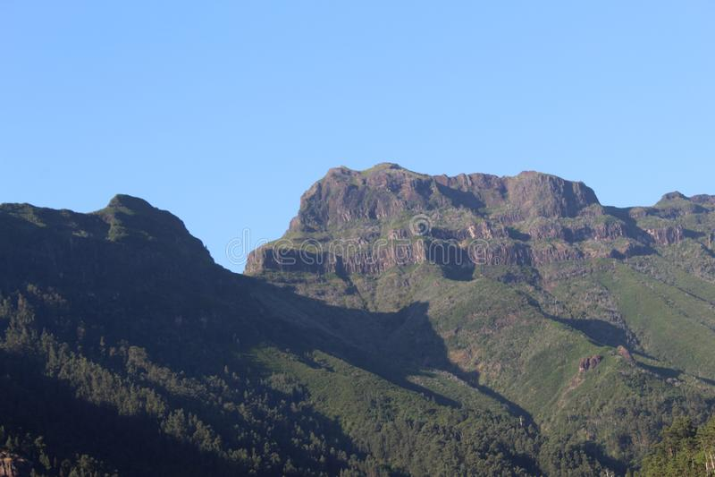 Wysoka góra W madery wyspie zdjęcia royalty free