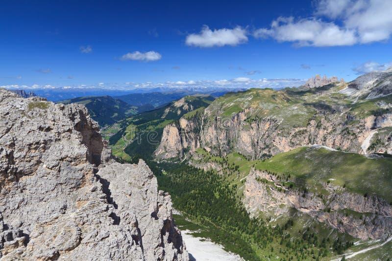 Wysoka Gardena dolina zdjęcie royalty free