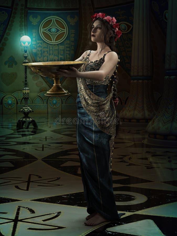 Wysoka Kapłanka, 3d CG royalty ilustracja