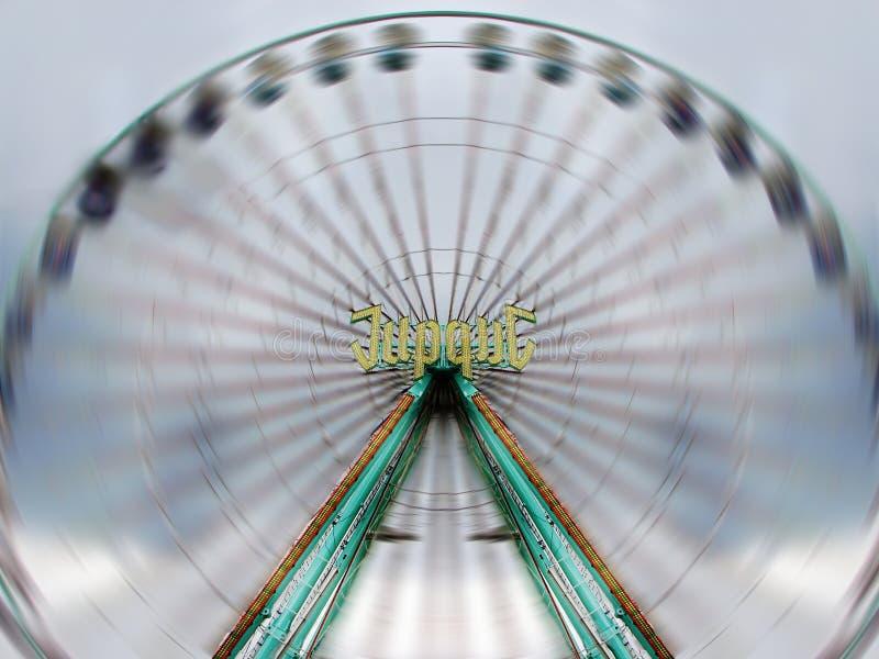 wysoka prędkość koło ferris obraz stock