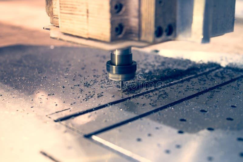 Wysoka prędkości CNC mielenia maszyna obraz royalty free