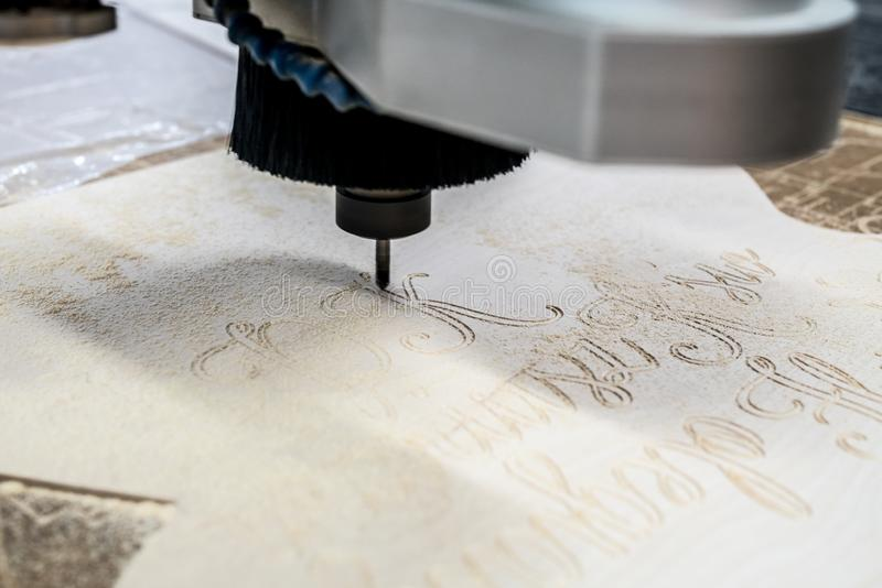 Wysoka prędkości CNC mielenia maszyna fotografia stock